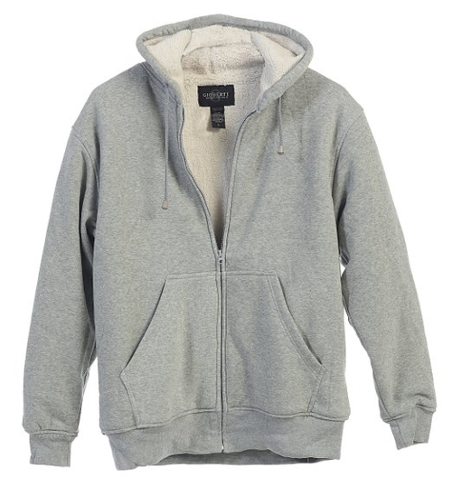 Sherpa Lined Pull Zip Fleece Hoodie Jacket by Gioberti in Dope