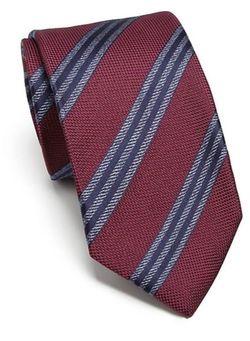 Mixed Print Silk Tie by Isaia in The Good Wife
