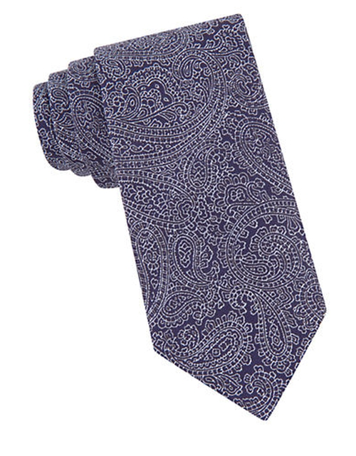 Silk Woven Paisley Embroidered Tie by John Varvatos in Suits - Season 5 Episode 8