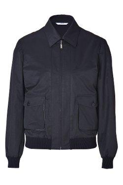 Midnight Blue Cotton-Blend Blouson Jacket by Brioni in The November Man