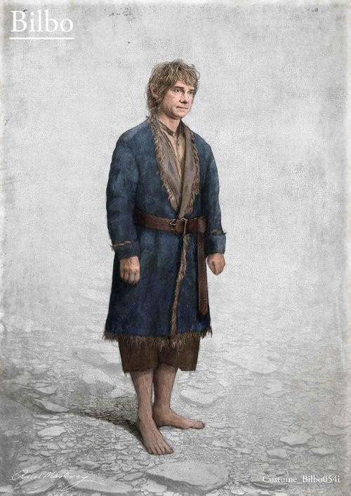 Custom Made Bilbo Lake Town Costume by Ann Maskrey & Bob Buck (Costume Designer) in The Hobbit: The Battle of The Five Armies
