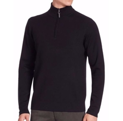 Wool-Blend Half-Zip Sweater by Saks Fifth Avenue Collection in The Circle