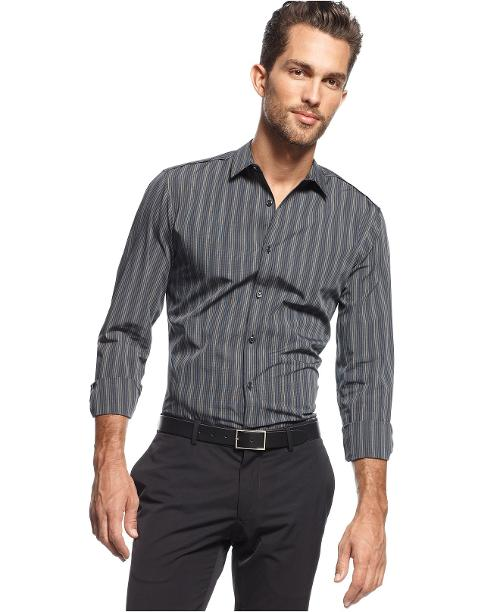 Long Sleeve Big & Tall Struss Slim Fit Shirt by INC International Concepts in Walk of Shame