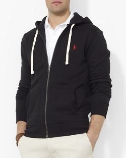Full Zip Hooded Fleece Jacket by Polo Ralph Lauren in Ant-Man