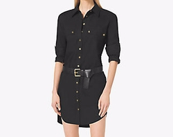 Stretch-Cotton Shirtdress by Michael Michael Kors in Elementary