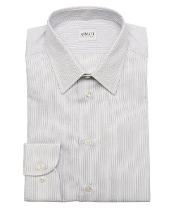 Herringbone Striped Cotton Dress Shirt by Armani in The Overnight