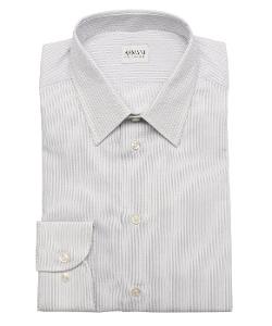Herringbone Striped Cotton Dress Shirt by Armani in The Overnight