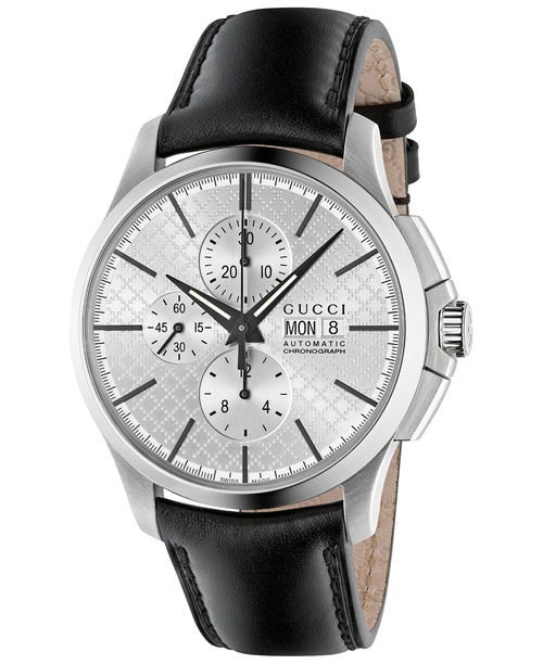 Chronograph G-Timeless Black Leather Strap Watch by Gucci in Batman v Superman: Dawn of Justice