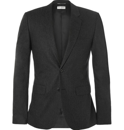 Slim-Fit Wool and Cashmere-Blend Blazer by Saint Laurent in The Flash - Season 2 Episode 1