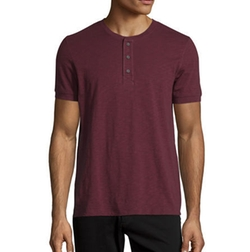 Short-Sleeve Slub Henley T-Shirt by Vince in Shadowhunters