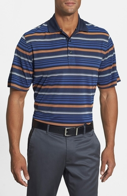 Rudder Stripe DryTec Golf Polo Shirt by Cutter & Buck in Ballers