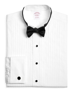Traditional Fit Pleat Wing Tuxedo Shirt by Brooks Brothers in The Hangover