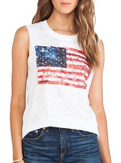 Camden Flag Muscle Tee by Nation LTD in Project Almanac