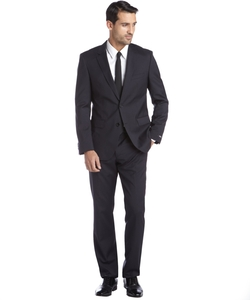 Navy Wool Two Button Suits by Hugo Boss in We Are Your Friends