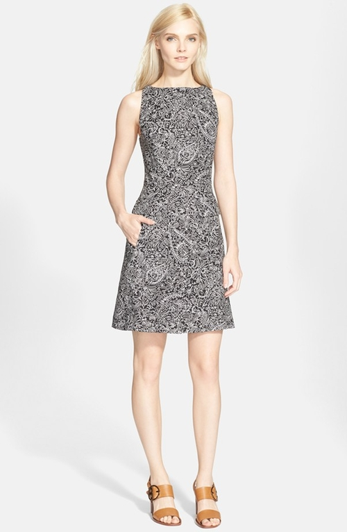 Print Sleeveless A-Line Dress by Tory Burch in How To Get Away With Murder - Season 2 Episode 4