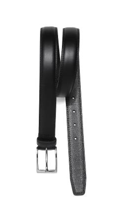 Belt with Silver Tone Buckle by Linea Pelle in Ted