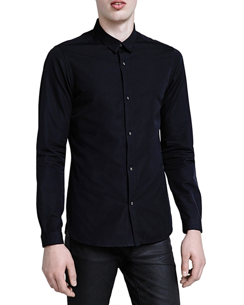 Faille Slim Fit Button Down Shirt by The Kooples in Tomorrow Never Dies