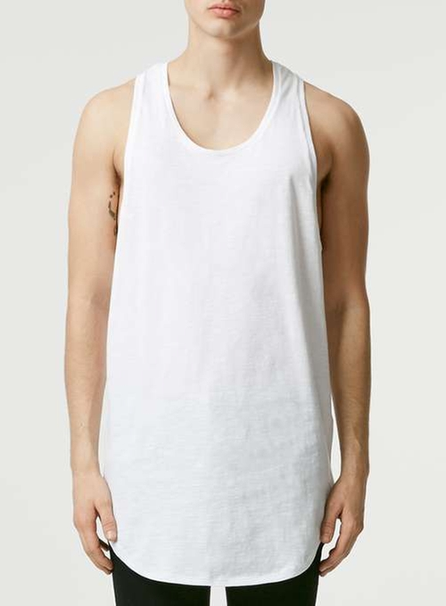 Slubby Longline Tank Top by Topman in Popstar: Never Stop Never Stopping