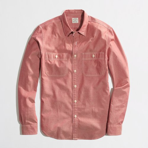 Factory Slim Red Chambray Workshirt by J.Crew in No Strings Attached