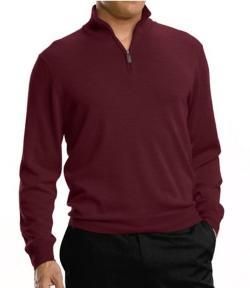 Signature Merino Wool Half-Zip Sweater by JoS. A. Bank in Mortdecai