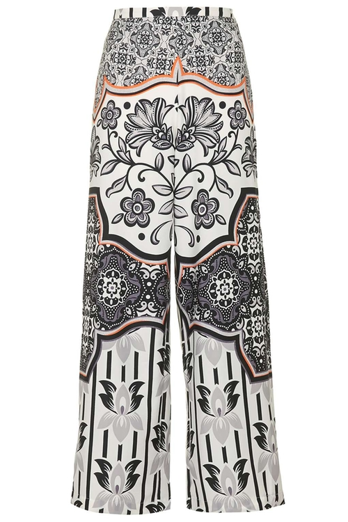 Tile Print Wide Leg Trousers by Topshop in Pretty Little Liars - Season 6 Episode 19