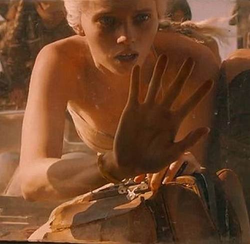 Custom Made Strapless White Dress (The Dag) by Jenny Beavan (Costume Designer) in Mad Max: Fury Road