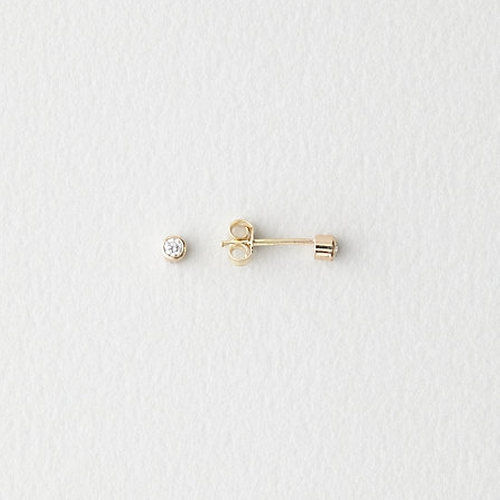 Diamond Bezel Stud Earrings by Grace Lee in Suits