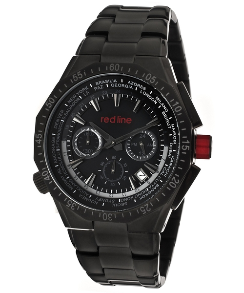 Stainless Steel Black Dial Wrist Watch by Red Line in Elementary - Season 4 Episode 6