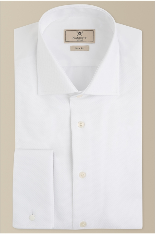 Slim Fit Marcela Double Cuff Shirt by Hackett London in Me Before You