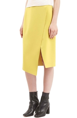 Crepe Wrap Skirt by Topshop in Empire