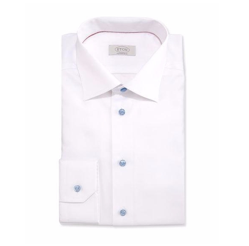 Textured Solid Dress Shirt by Eton in Demolition