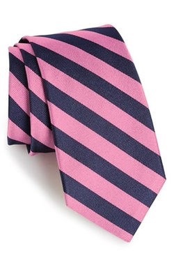 Stripe Silk Tie by Gitman in The Mindy Project