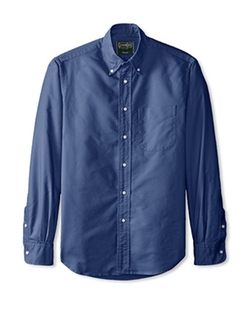 Solid Button Down Sportshirt by Gitman in Quantico