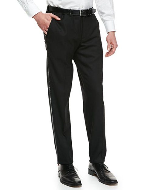 Tuxedo Trousers by Versace in Black or White