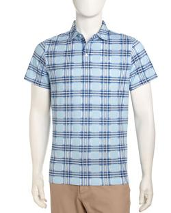 Short-Sleeve Polo Shirt, Aqua Blue by J Lindeberg in Hall Pass