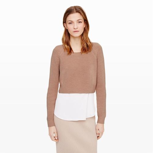 Coryn Crop Sweater by Club Monaco in Pretty Little Liars - Season 6 Episode 4