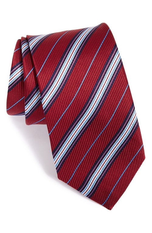 Stripe Silk Tie by Eton in The Good Wife - Season 7 Episode 7