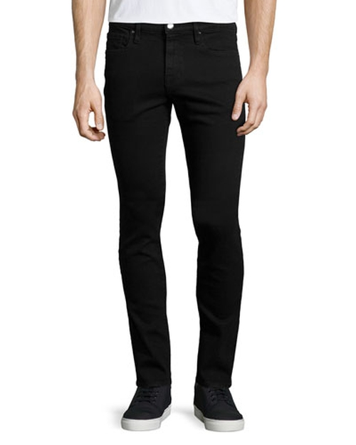 L'Homme Noir Skinny-Leg Jeans by Frame Denim in Crazy, Stupid, Love.