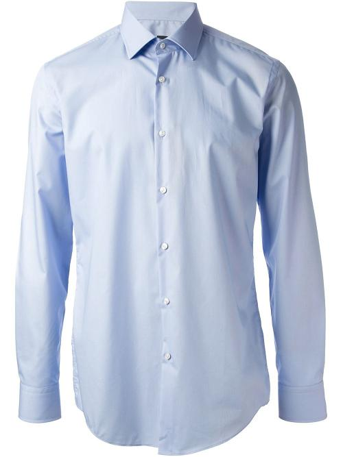 Plain Slim Fit Shirt by Hugo Boss in Addicted