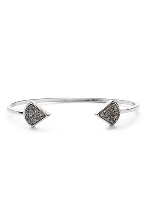 Drusy Station Cuff Bracelet by Marcia Moran in The Overnight