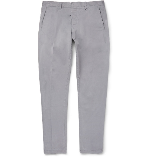 Cotton-Blend Chino Pants by Ami in Dope