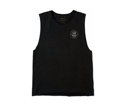 Dim Mack Circular Outline Muscle Tank Top by RVCA+Bv3 in Animal Kingdom