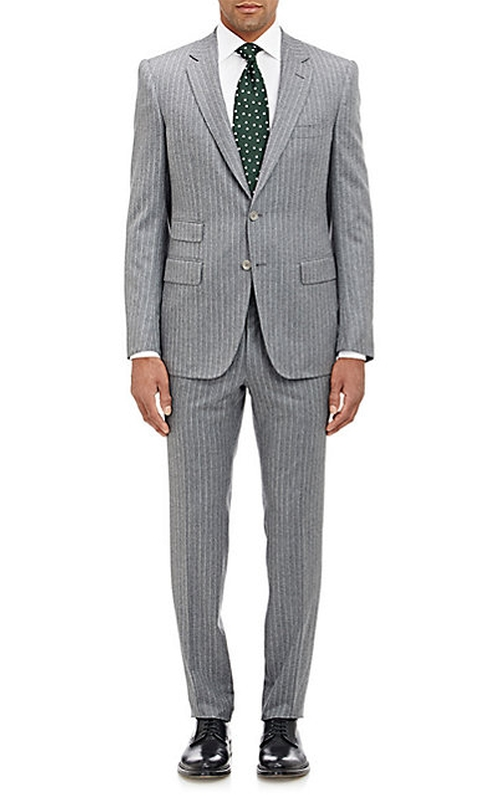 Striped Marbeuf Two-Button Suit by Cifonelli in Black-ish - Season 2 Episode 5