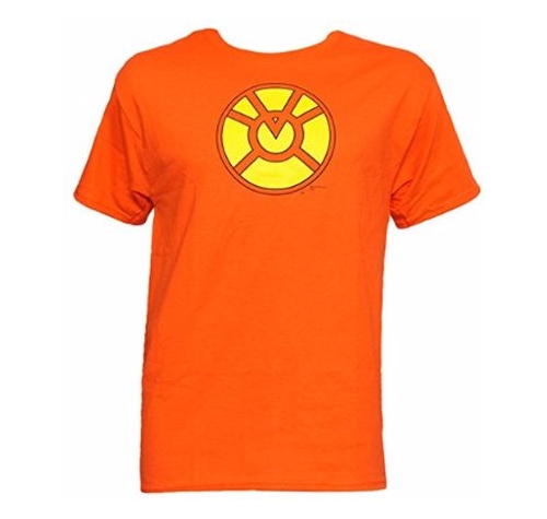 Orange Lantern Symbol T-Shirt by DC Comics in The Big Bang Theory - Season 9 Episode 21