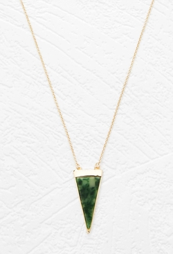 Faux Stone Pendant Necklace by Forever 21 in The Flash