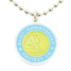 St. Christopher Surf Medallion Necklace by Get Back Supply Co. in The Shallows