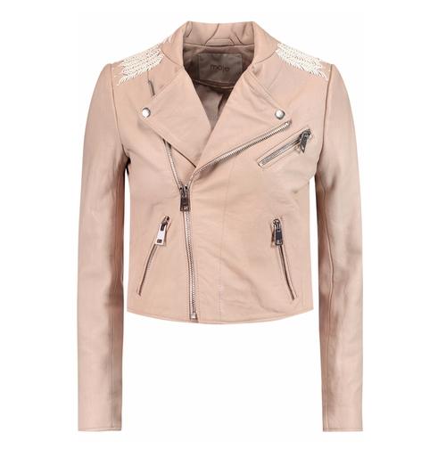 Vicky Leather Jacket by Maje in Billions - Season 1 Episode 9