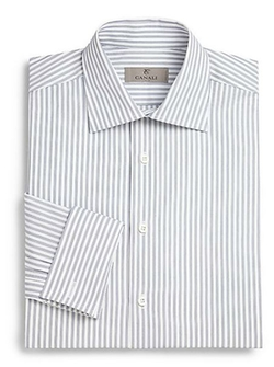 Regular-Fit French Cuff Striped Dress Shirt by Canali in Steve Jobs