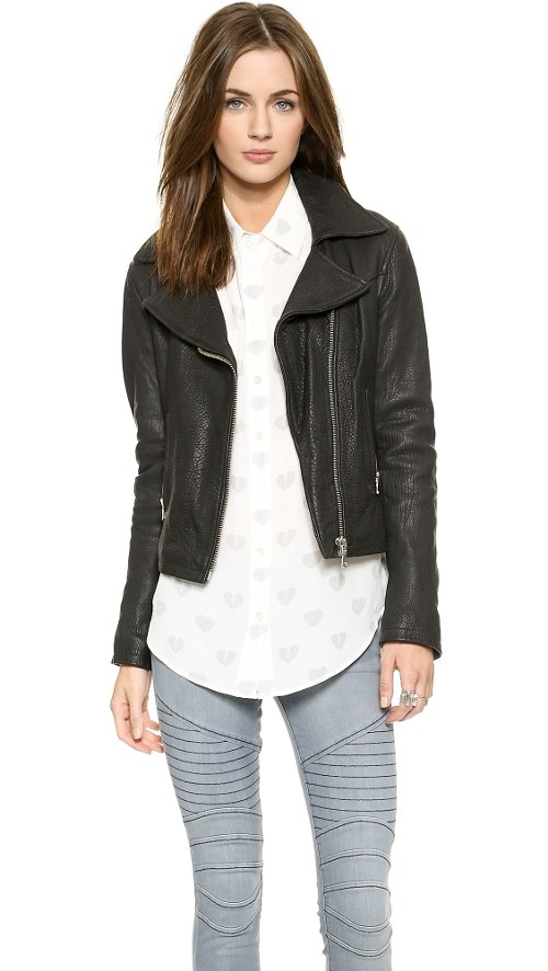 Behati Moto Leather Jacket by THVM in Focus