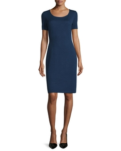 Short-Sleeve Knit Sheath Dress by St. John Collection in The Good Wife